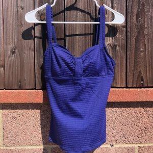 Blue Tankini Swim Top Size 10